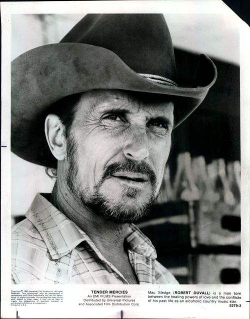 Robert Duvall won Best Actor in 1983 for his role as Mac Sledge in the film Tender Mercies.