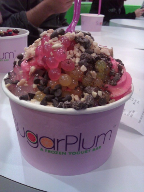 Great frozen yogurt place in Davis, CA called sugarplum