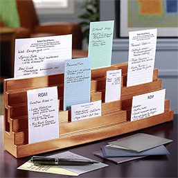 Levenger Note Card Bleacher  Desk accessory to help you organise your index cards  $69