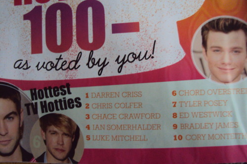 "michelleklainequeen:  browsing through a magazine today, look who's the top 2 ""Hottest TV Hotties"""