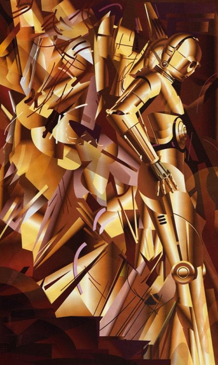 tiefighters:  C3PO Descending A Staircase  - by John Mattos via: theuniblog