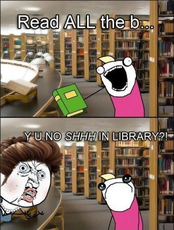 mean library ladies are mean :'( freedom of speech first amendment check the constitution