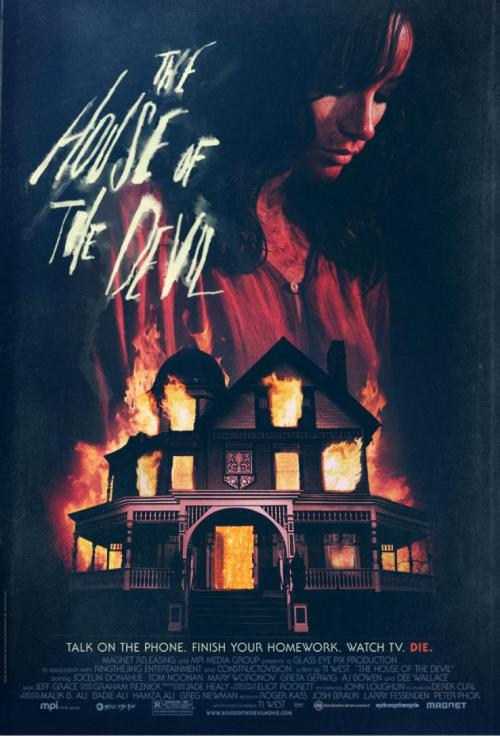 "Movie of the night - ""The House of the Devil"" How come I've never seen this movie before? The whole 70's/80's feel made me love it even more. Any horror fan would love this movie. Ti West did a really good job on this. 4 out of 5 stars"