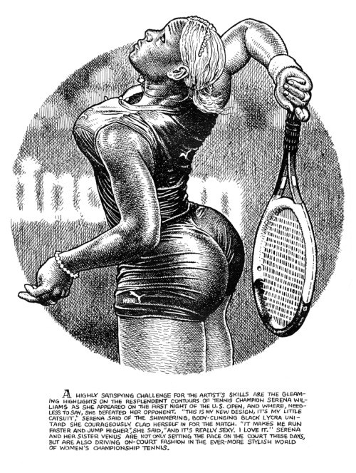 MAESTRO sowhatwentwrong:  Serena Williams, drawn by Robert Crumb, ©2003