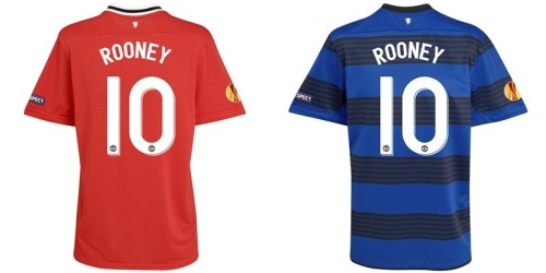 Manchester United UEFA Europa League Home and Away Shirt 2011/12