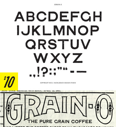 Grain-O All Caps - Uppercase OpenType font with basic punctuation $10.00 - Buy Now