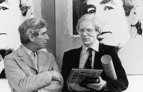 awesomepeoplehangingouttogether:  Hergé and Andy Warhol