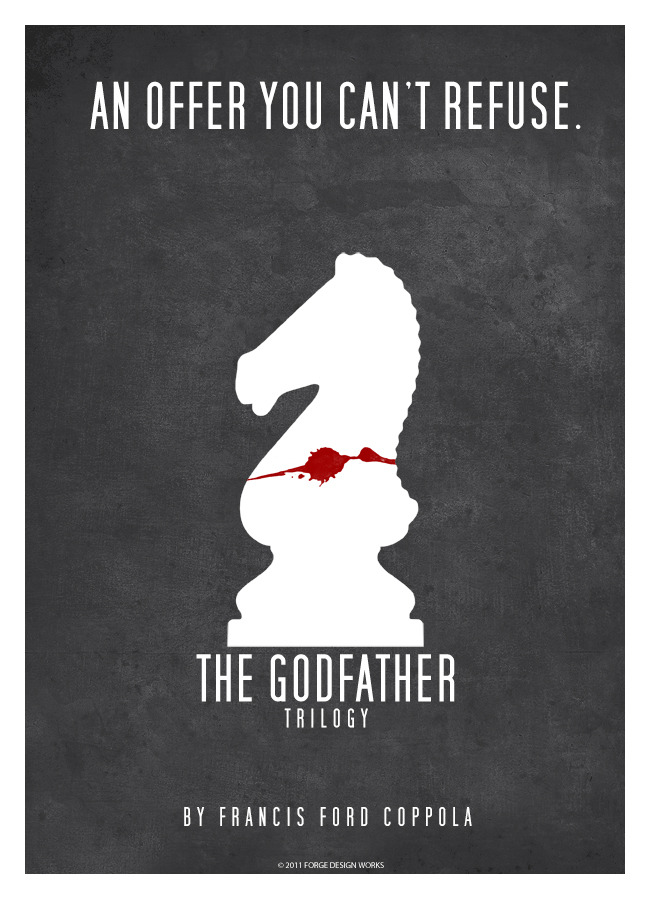 minimalmovieposters:  The Godfather by Forge Design Works
