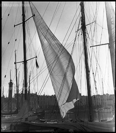 "Werner Bischof FRANCE. South of France. ""Flapping sails"". 1939."