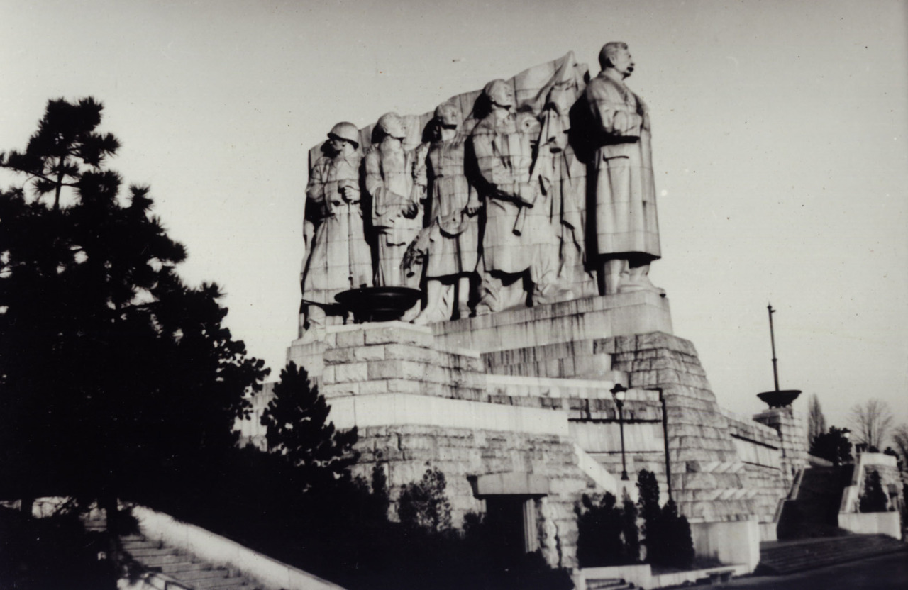 Monument to Stalin from 1955, demolished in 1962, Prague