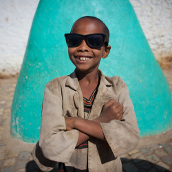 Street kid with sunglasses - Harar Ethiopia by Eric Lafforgue on Flickr.