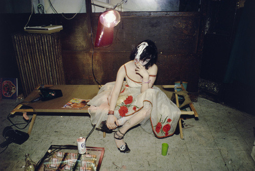 starvingartistt:  Nan Goldin_ Trixie on the Cot. New York City. 1979. link.