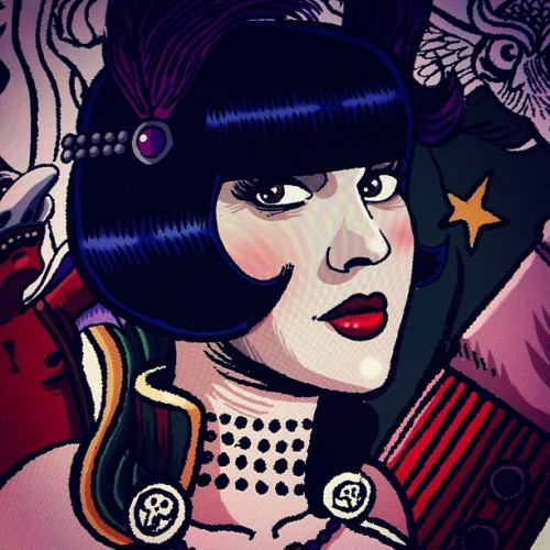 #Colors in progress #20s #cabaretbizarre #cleoviper #magician #burlesque #wip #poster #flyer #cabaret  (Taken with Instagram at http://www.mariemeier.fr)