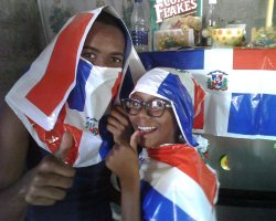 My cousins are too funny. Reppin the Dominican Republic. Woop woop!