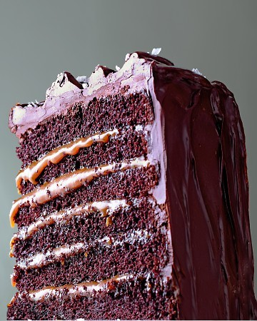 Salted Caramel Six-Layer Chocolate Cake Okay … your mouth is open and the drooling is getting pretty embarrassing. You better bake!