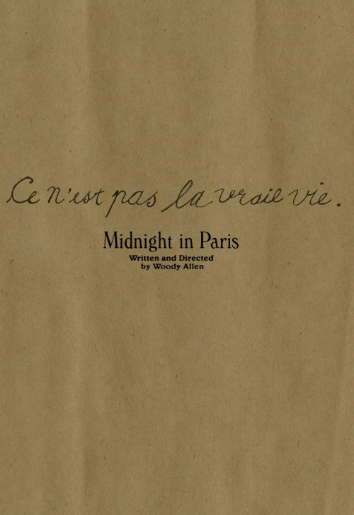 minimalmovieposters:  Midnight in Paris by Allie Levin