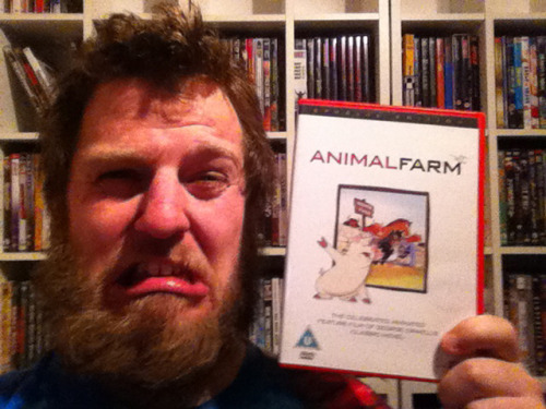 "#27 – Animal Farm   Director: Joy Batchelor and John Halas   ""Four legs good, two legs bad!""   The ancient story of power corrupting, has never been shown more clearly as in Animal Farm, and despite the countless examples of this story shown in real life politics, the same scenario keeps on unfolding before our very eyes, all over the world. Based on George Orwell's classic novel, Animal Farm is a comment on every revolution story, and shows how humans tend to react when given authority – but is shown to us, in way of a farmyard revolution, as the animals join together and get rid of the old dictator (the farmer), and take control of the farm. Animal Farm is a cartoon, but defiantly not for children, it is very violent and terrifying, and several animals are killed… With that said, I do believe that all children should see it, as it teaches a very important lesson, not only about the corruption of man, but also about the responsibility leaders have towards people and animals alike. I was shown this many, many times as a child, and I have not yet tried to become an evil dictator, and I treat people (and animals) with dignity and respect (I am not positive that this can be pined on the viewing of this awesome cartoon, but I like to think so). Every revolution must have its soundtrack, and the soundtrack in Animal Farm is totally awesome, I challenge you to watch this film, and not have the main theme, stuck in your head for days or weeks, the DVD restoration has also really pushed the overall sound of the movie up to another level, that does the movie credit. A different actor voices every single animal in the movie, and with the beautiful narration by Gordon Heath the voice actors are brilliant, as well as the animation style, that calls on many dramatic effects. In my opinion, Animal farm is the most important animated film to be made, and is a must see, for everybody who enjoys the exploration of human nature and the history of repression – it has never been shown better, on the screen. Everybody says that George Orwell's original book is much better than the cartoon, so I'd better read it then, because it must be pretty damn excellent.   8/10"