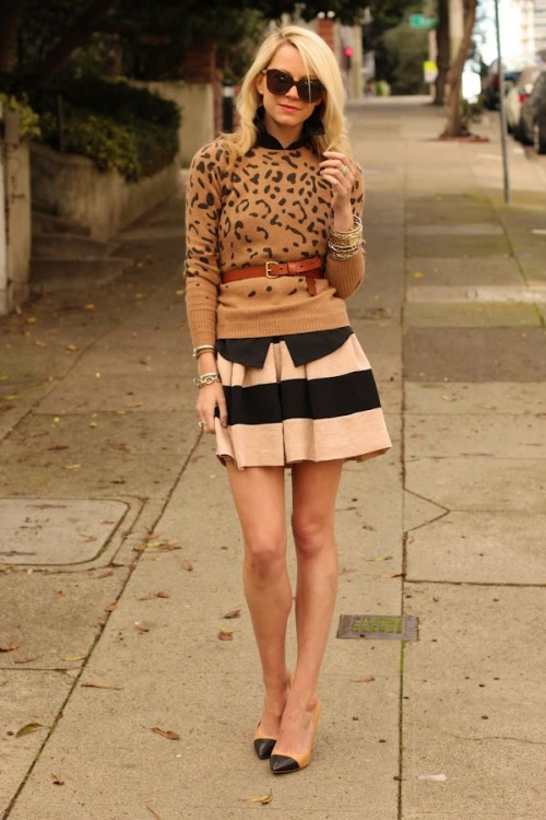 modcloth:  Stripes and leopard print were made to go together. via Atlantic Pacific.