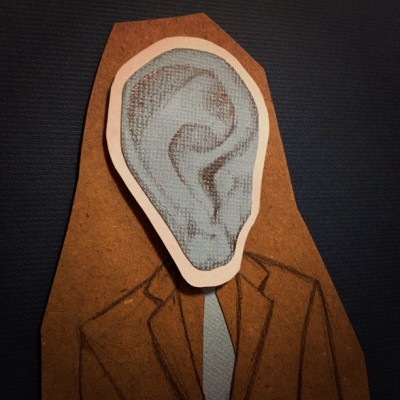 #illustration #ear #suit #blue (Taken with instagram)