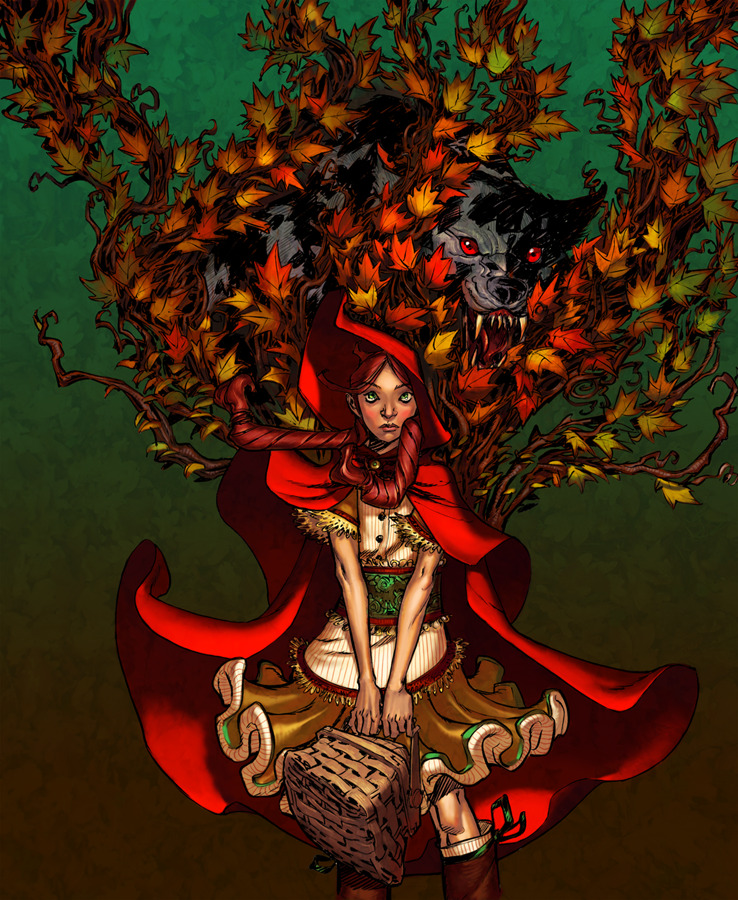 "fairytalemood:  ""Red Riding Hood"" by Eric Canete and Jandruff"