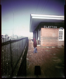 Clayton Train Station - 8x10 pinhole ©Rebecca Adair 2012