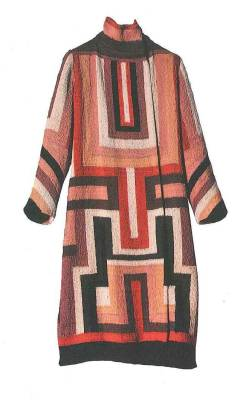 Sonia Delaunay, Coat made for Gloria Swanson. France, 1923-24. Wool embroidery on cotton canvas.