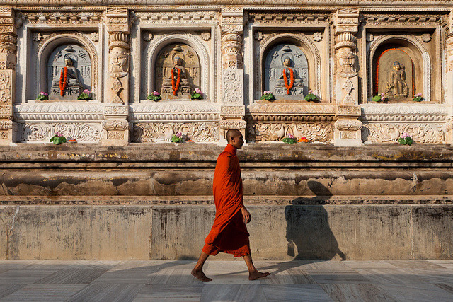 Monk, Bodhgaya by Marji Lang on Flickr.