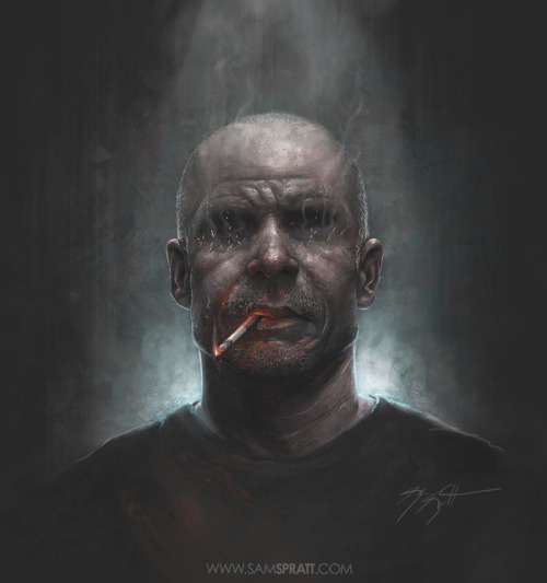 The Smoker (~3hr) - Portrait Painting by Sam Spratt View video time-lapse process HERE: