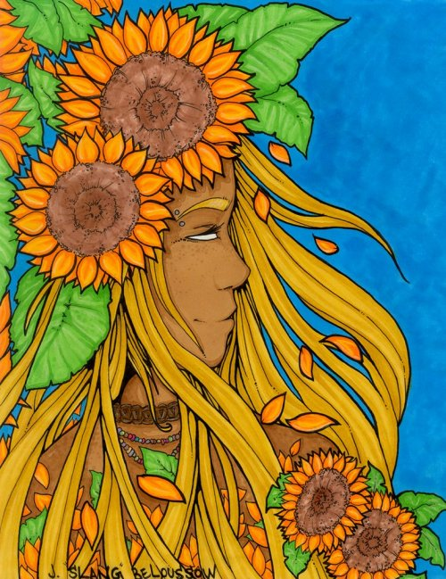 "fuckyeahpsychedelics:  ""Sunflower Queen"" by ShamanicSlang"