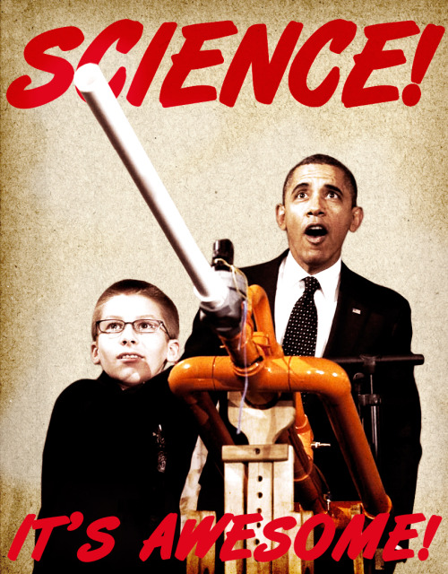 A poster inspired by yesterday's amazing marshmallow cannon situation. Obama's mouth has never been so agape.