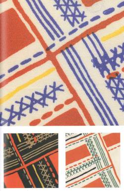 Sonia Delaunay, Design 1152: textile design, fabric samples. France, 1932. Produced by Metz & Co, 1933. Printed silk.