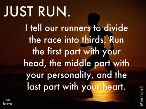 A little motivation to run. I have been telling myself to start running for 2 months now… I have gotten no where!
