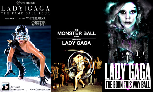 ladyxgaga:  Official Tour Posters