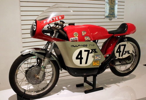 Race Anywhere Motorcyclepedia's 1970 Bultaco TSS350 Speed Racer Built in Spain, raced in the U.S. It's a two-stroke, single cylinder, air cooled land speed record setter on two occasions. This is #54 of 57 examples built from 1969 to 1970. It was used racing enduro, motocross, road-racing, and dirt track racing.