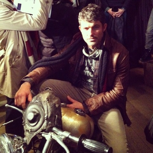 thesigother:  Best accessory: motorcycle. @ Gilded Age  (Taken with instagram)