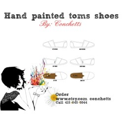 Hand Painted Toms Shoes by conchetts on polyvore.com