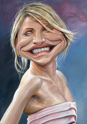 [ Cameron Diaz ]  - artist: Derren Brown - website: http://derrenbrown.co.uk