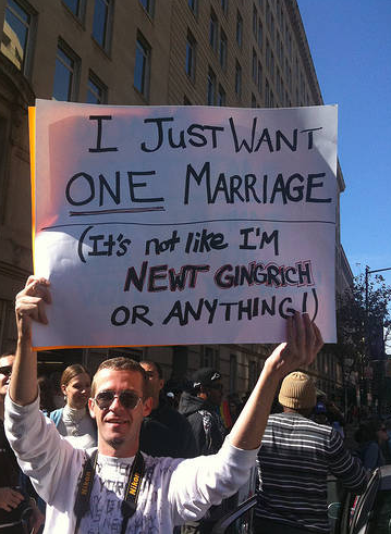 seriouslyamerica:  The funniest signs supporting gay marriage.