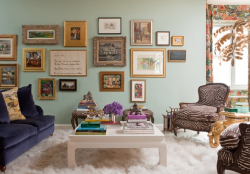 Fab gallery wall and zebra bergeres by @ElizabethBauer