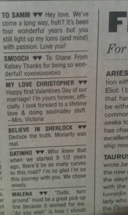we made the paper! … sort of. #believeinsherlock dr-eames:  Holy shit look holy shit this was in the stranger