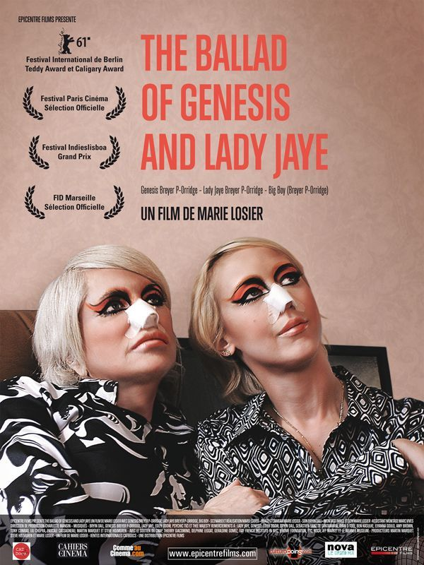 SpeakEasy Cinema presents The Ballad of Genesis of Lady Jaye along with a conversation with Genesis P-Orridge at ACMI on March 5th at 8pm.