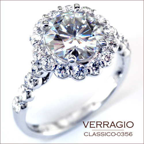 Classico-0356 engagement ring custom-made for a 1.69 carats round diamond.