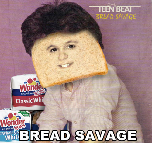 Celebrities as bread, aka, breadpeople. There's gotta be a Subway tie-in somewhere in here.
