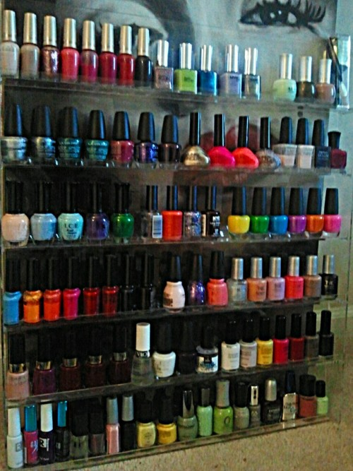 my polish collection… Smh. When did this happen? lol