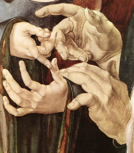 proustitute:  Albrecht Dürer, Christ Among the Doctors (detail), 1506.