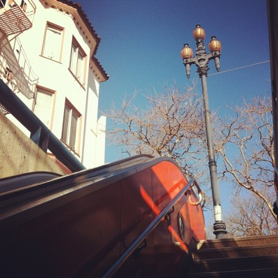 Castro MUNI stairs (Taken with instagram)