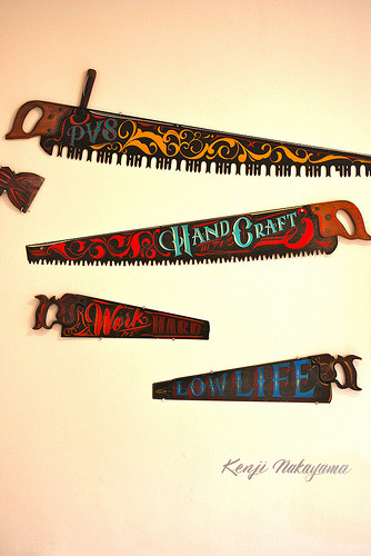 typeverything:  Typeverything.com - Rad hand painted saws Kenji Nakayama (by Best Dressed Signs)