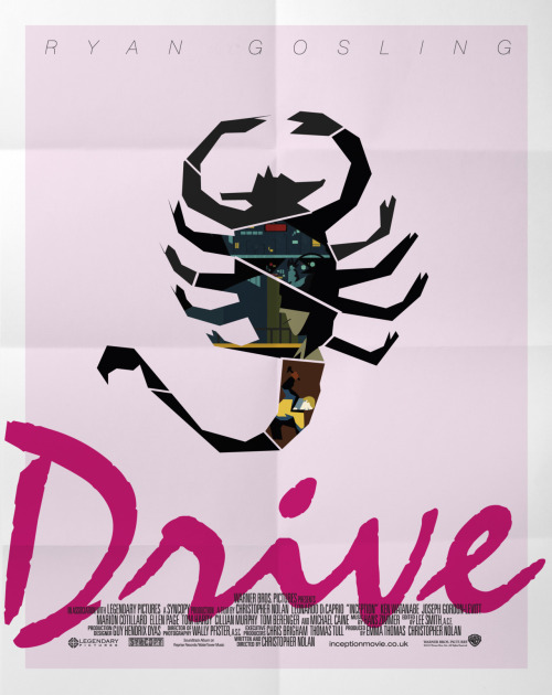 Poster for the 2011 Nicolas Winding Refn film, Drive.