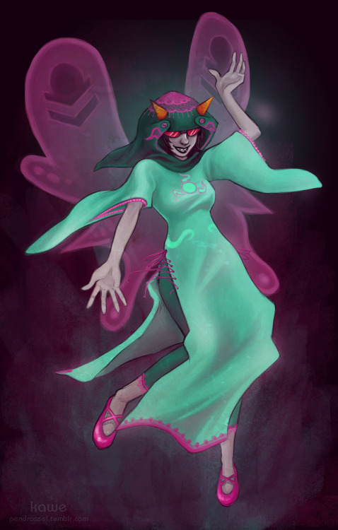 Godtier Terezi done! She was requested by charlottenothing. I added a few little tiny bit to the design to get away from the payama look. Now its an oriental payama. :D    … orz  STEALH EDITING: I just couldn't let it be.. I remembered the lacy stuff I wanted to add in the begining and forgott.