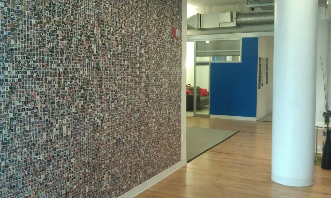 The Facebook wall at work.